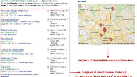 Продвижение в локальном поиске Google