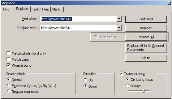 меняем в SQL базе данных все вхождения старого адреса сайта на новый