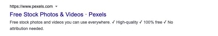 Pexels example