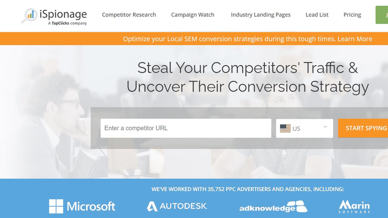 Ispionage для анализа конкурентов