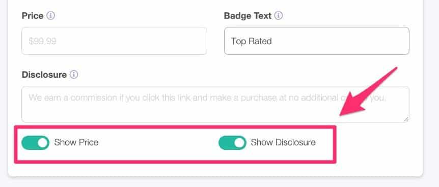 Lasso affiliate disclosure message