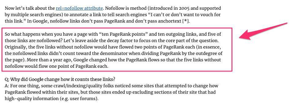matt cutts june 2009 statement about pagerank sculpting