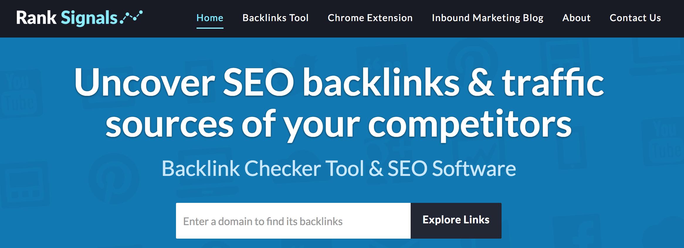 ranksignals competitor analysis tools