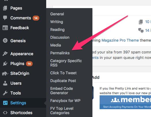 Adjusting Permalinks in WordPress