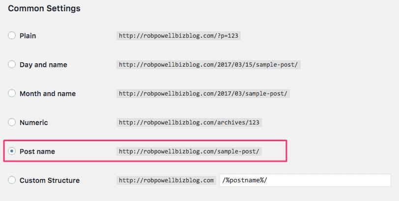 Adjusting URL structure in WordPress
