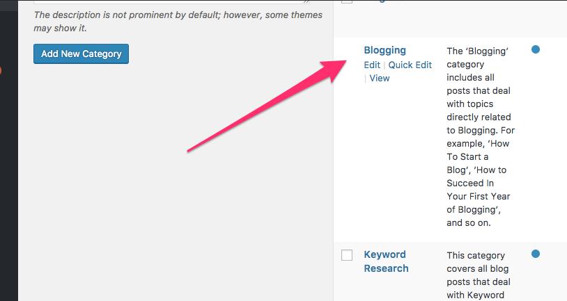 Inserire la descrizione di una categoria in WordPress